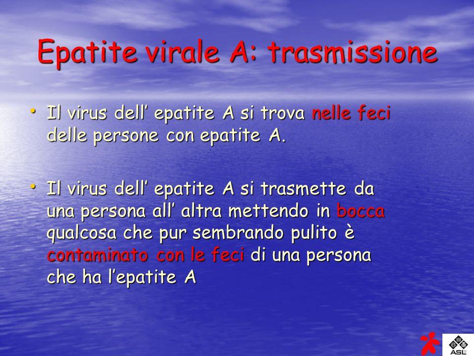 Epatite virale A: trasmissione