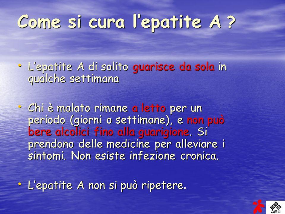 Come si cura l'epatite A