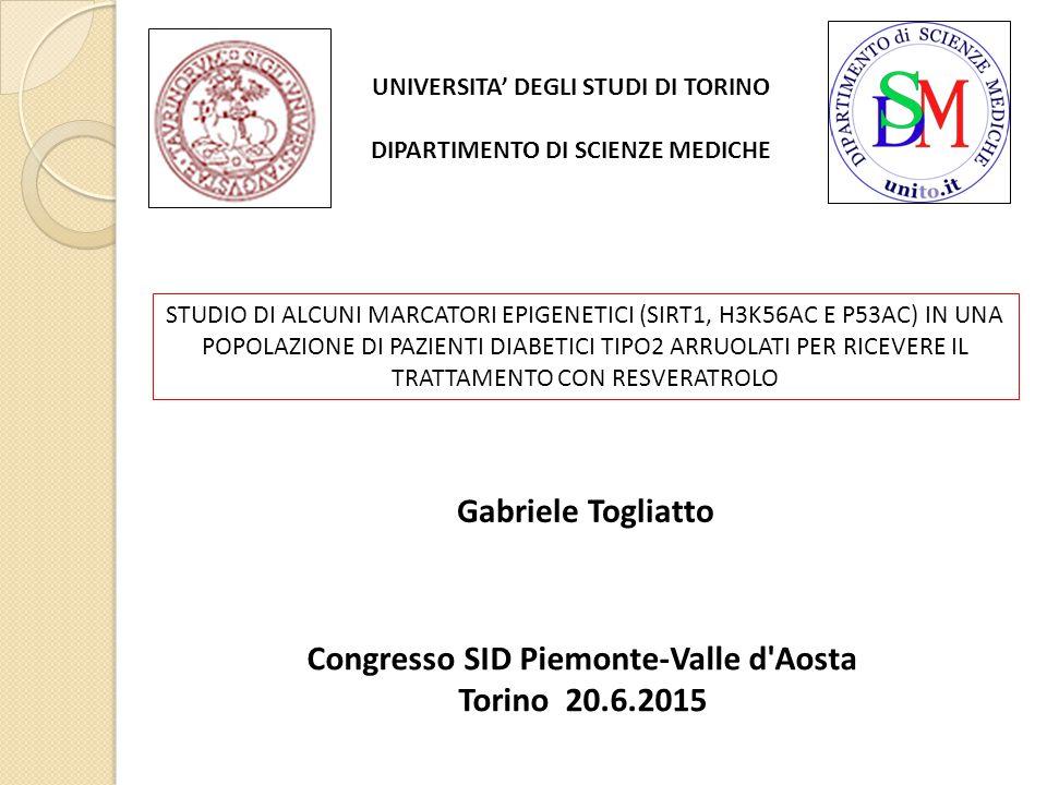 Gabriele Togliatto Congresso SID Piemonte-Valle d Aosta