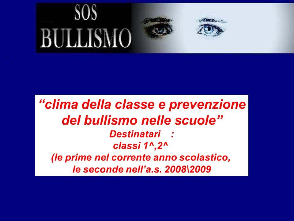 clima della classe e prevenzione del bullismo nelle scuole