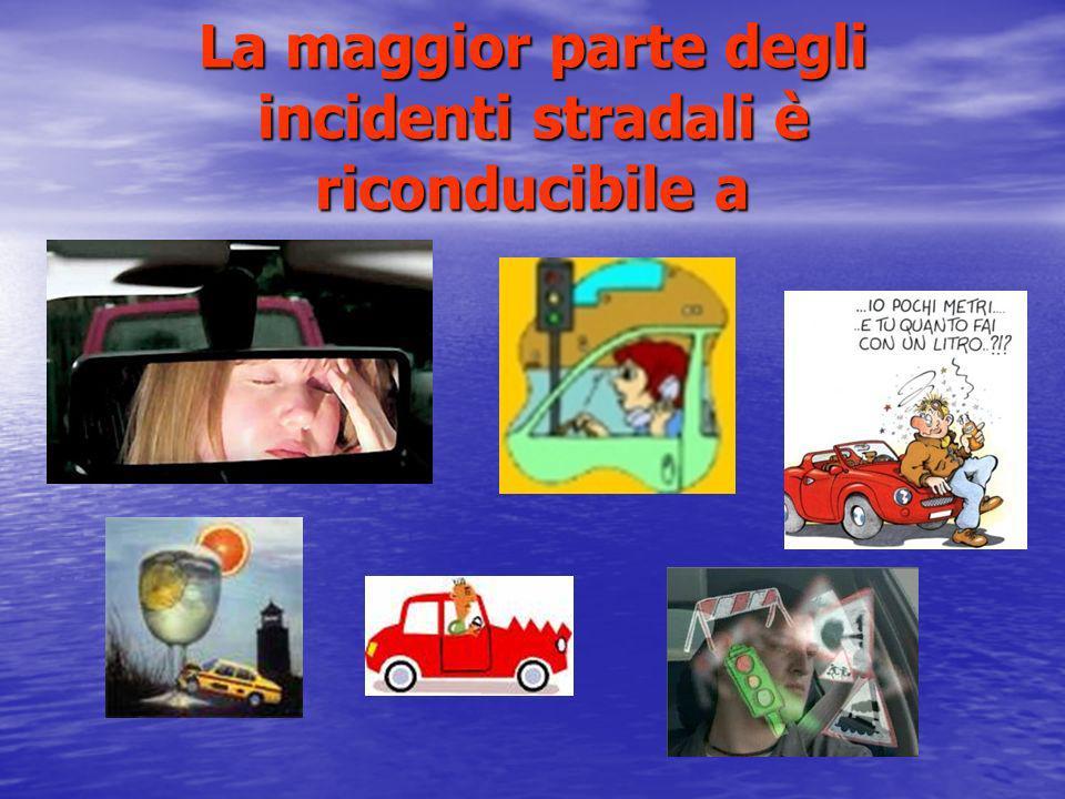 La maggior parte degli incidenti stradali è riconducibile a