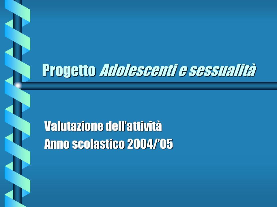 Progetto Adolescenti e sessualità