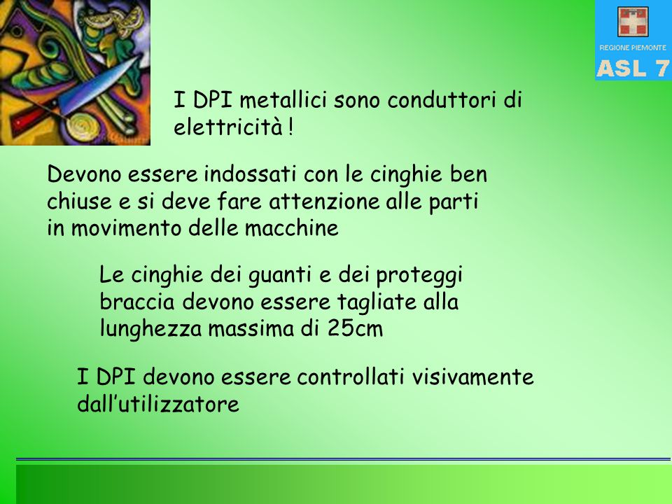 I DPI metallici sono conduttori di elettricità !