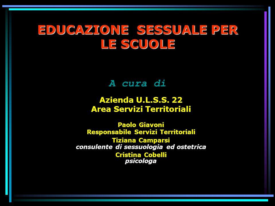 EDUCAZIONE SESSUALE PER LE SCUOLE