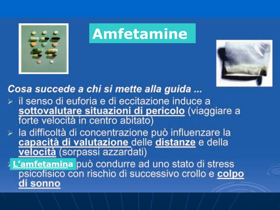 Amfetamine L'amfetamina