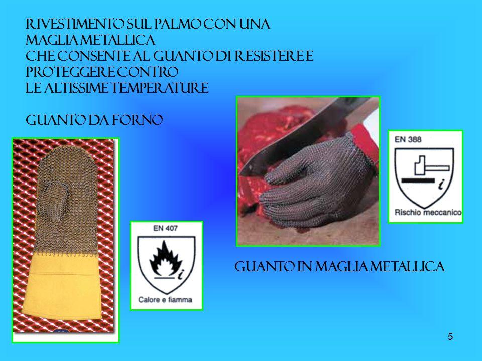 Rivestimento sul palmo con una maglia metallica