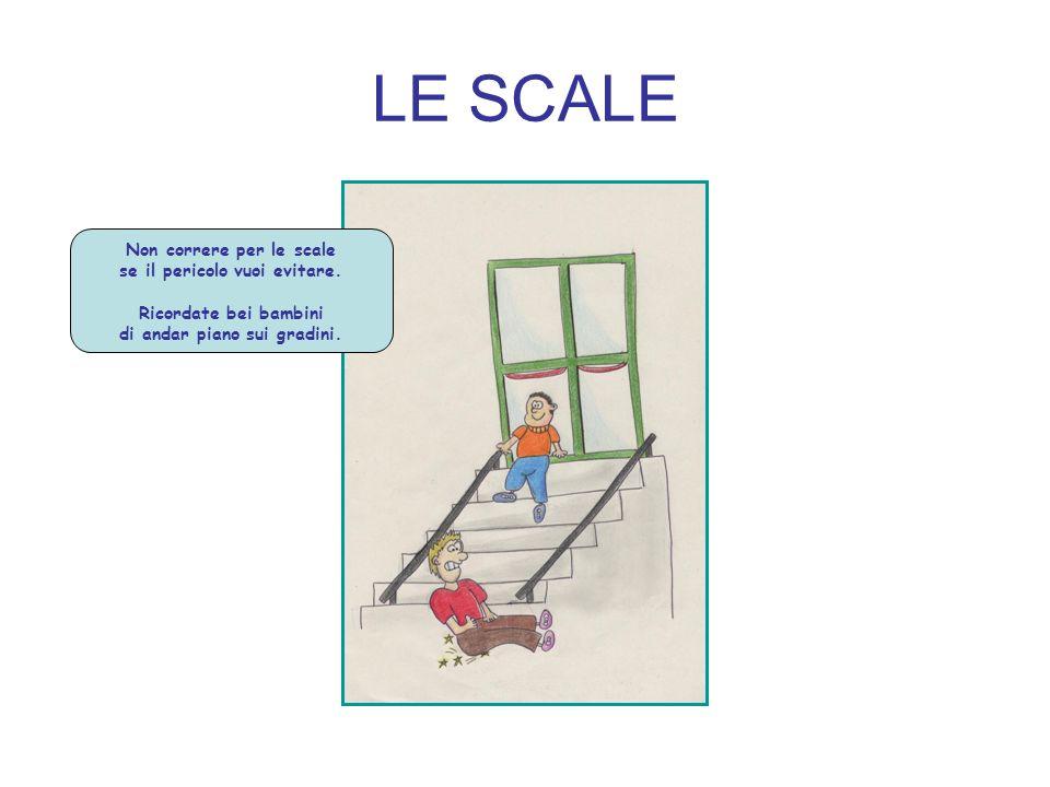 LE SCALE Non correre per le scale se il pericolo vuoi evitare.