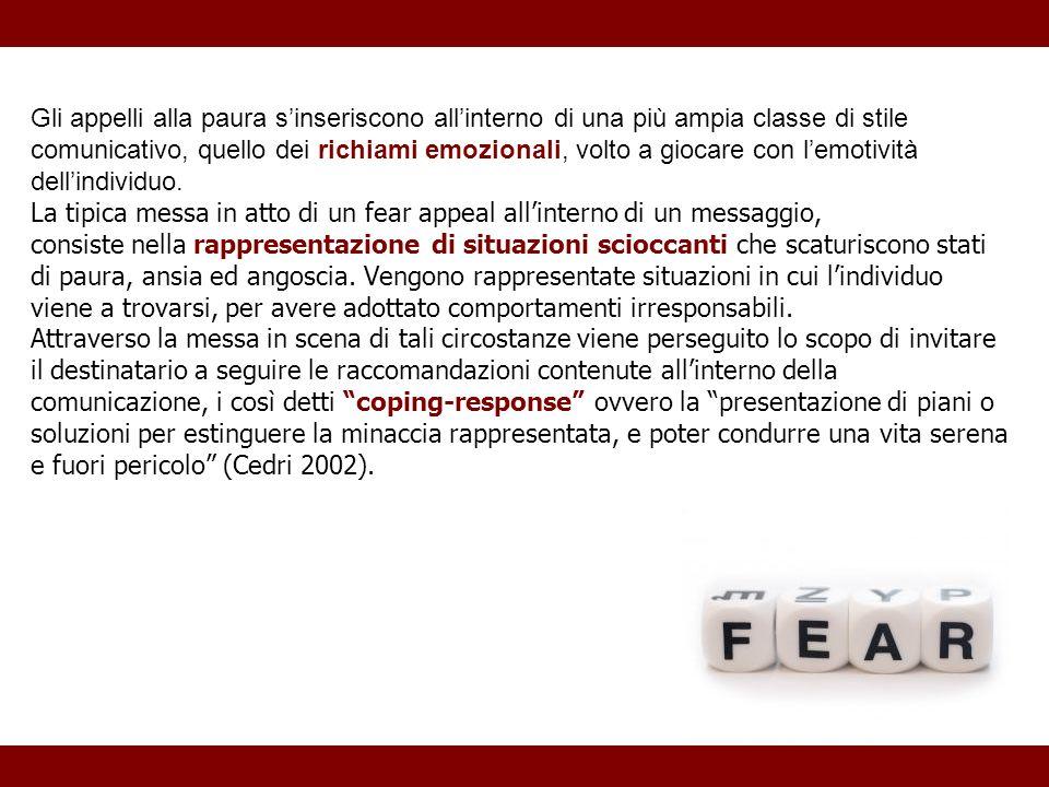 Gli appelli alla paura s'inseriscono all'interno di una più ampia classe di stile