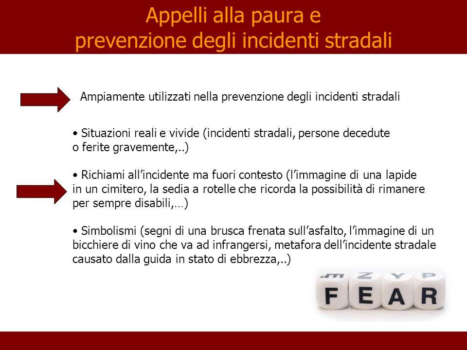 Appelli alla paura e prevenzione degli incidenti stradali
