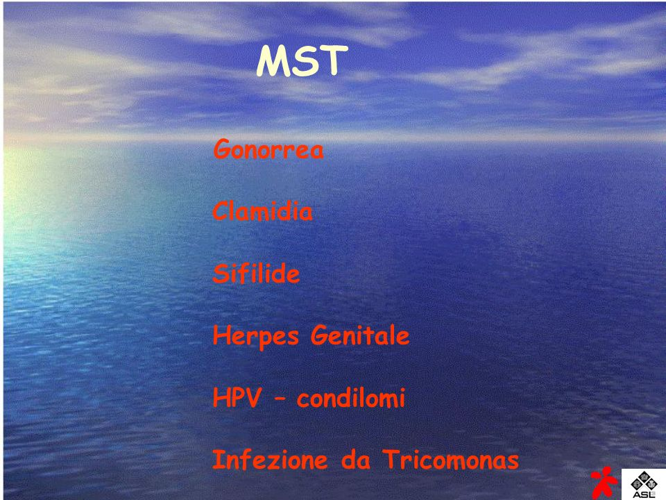 MST Gonorrea Clamidia Sifilide Herpes Genitale HPV – condilomi