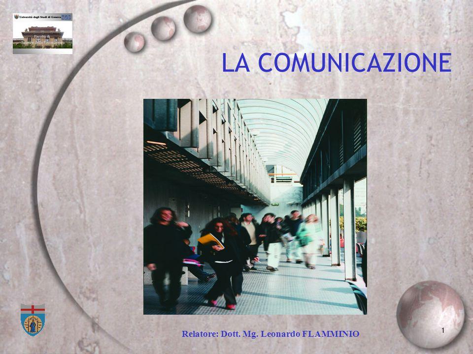 LA COMUNICAZIONE Relatore: Dott. Mg. Leonardo FLAMMINIO