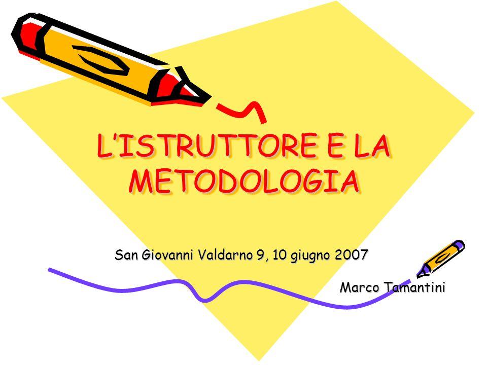 L'ISTRUTTORE E LA METODOLOGIA