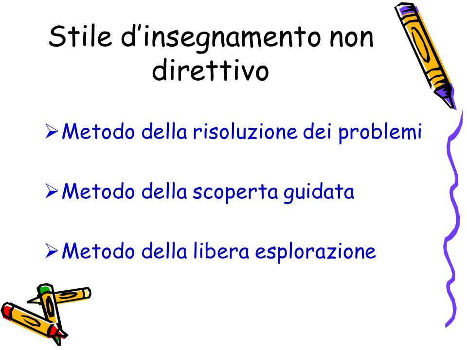 Stile d'insegnamento non direttivo