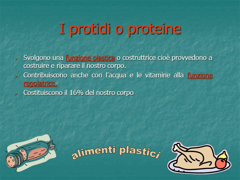 I protidi o proteine alimenti plastici