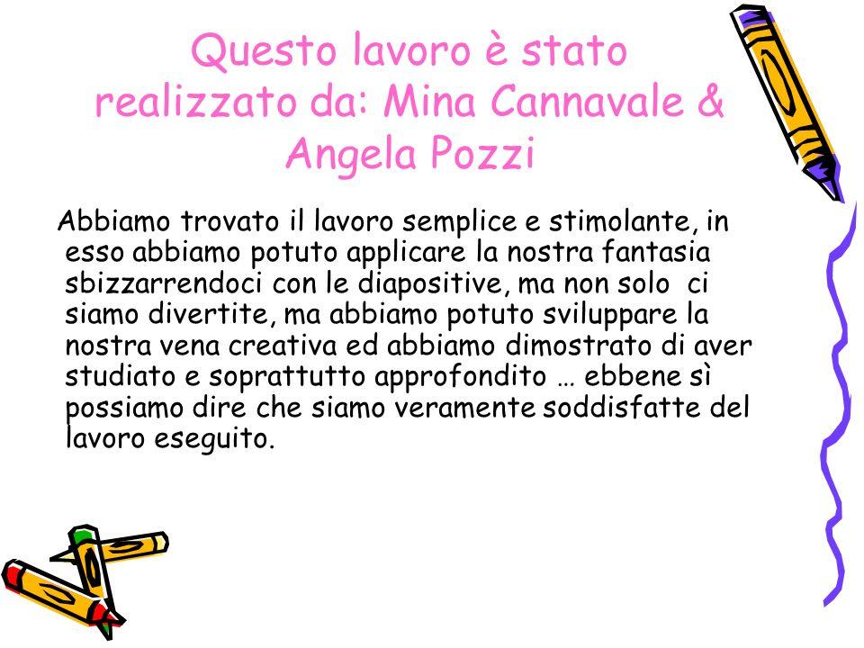 Questo lavoro è stato realizzato da: Mina Cannavale & Angela Pozzi