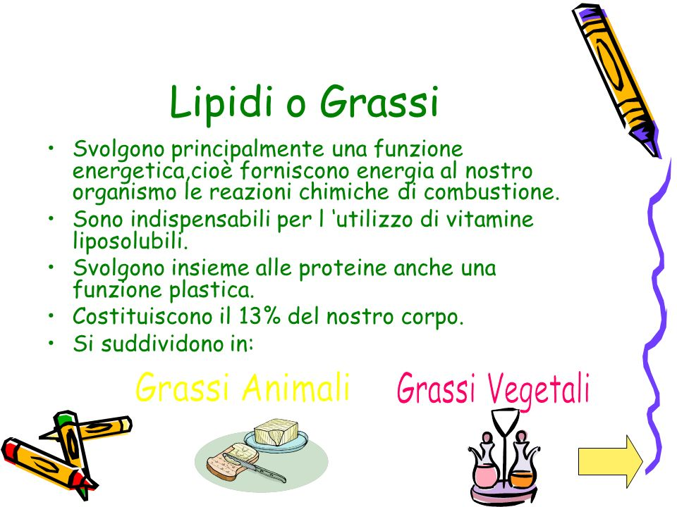Lipidi o Grassi Grassi Vegetali