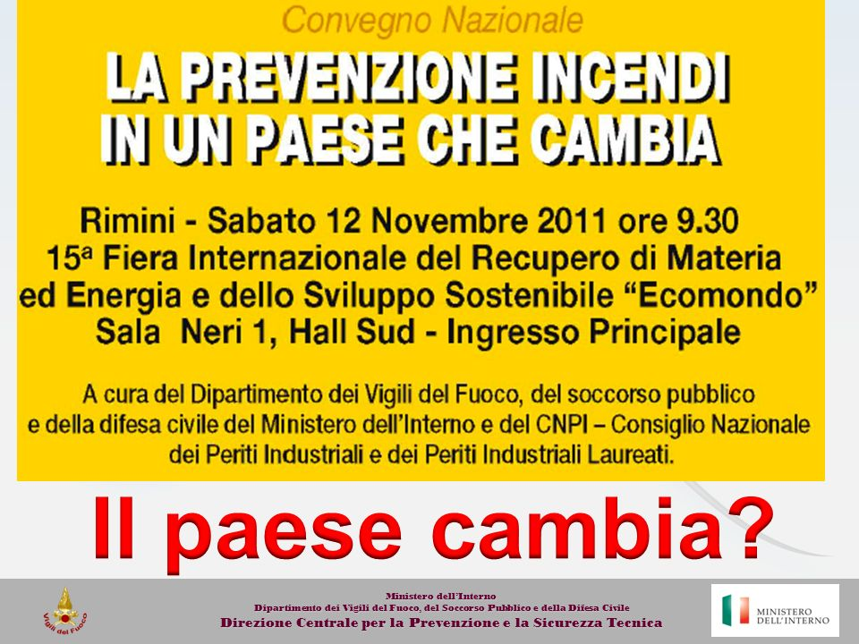 Il paese cambia