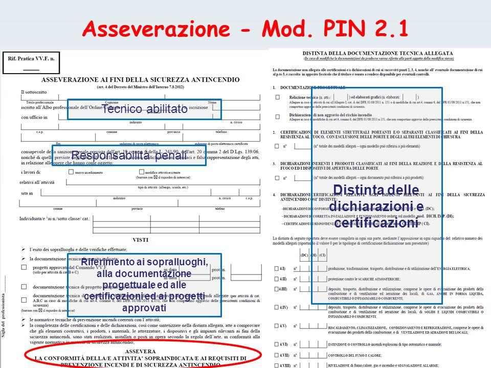 Asseverazione - Mod. PIN 2.1