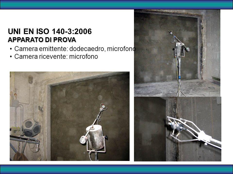 UNI EN ISO 140-3:2006 APPARATO DI PROVA