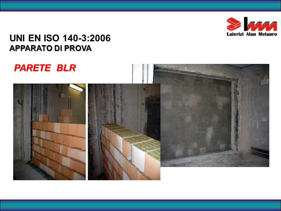 UNI EN ISO 140-3:2006 APPARATO DI PROVA PARETE BLR 81