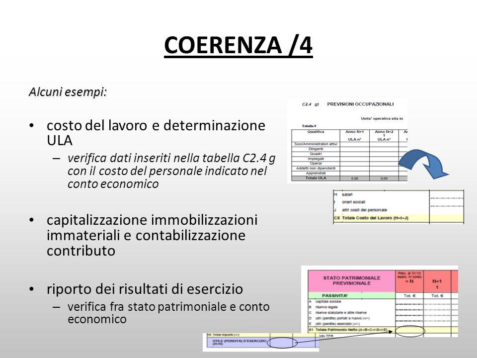COERENZA /4 costo del lavoro e determinazione ULA