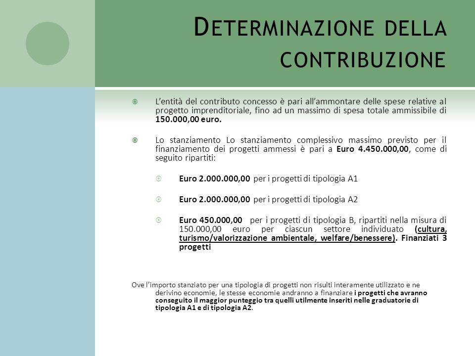 Determinazione della contribuzione