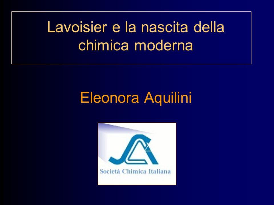 Lavoisier e la nascita della chimica moderna
