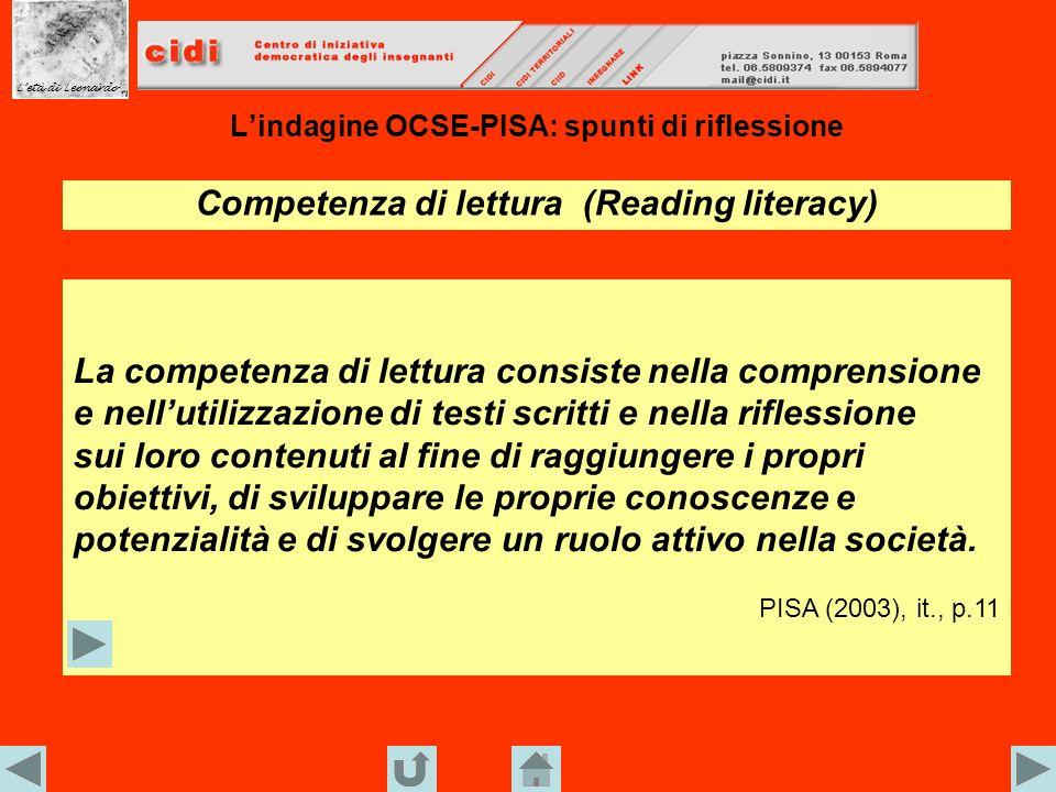 L'indagine OCSE-PISA: spunti di riflessione