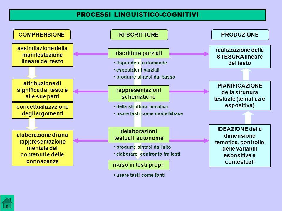 PROCESSI LINGUISTICO-COGNITIVI