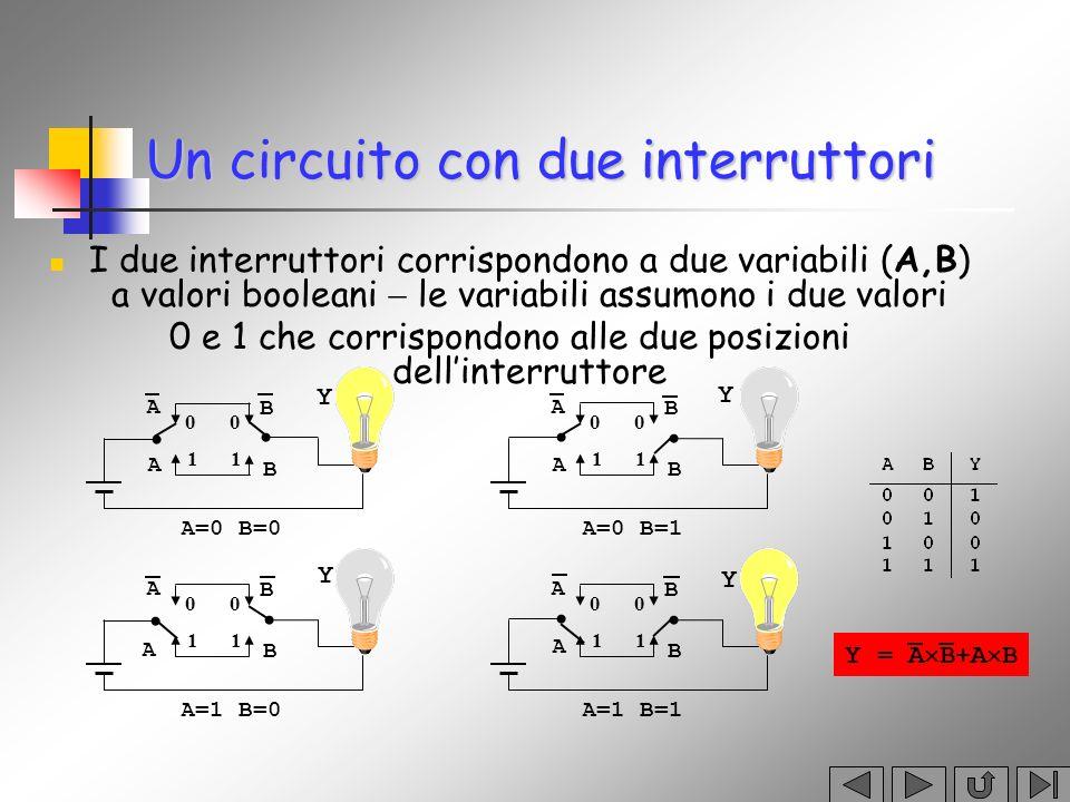 Un circuito con due interruttori
