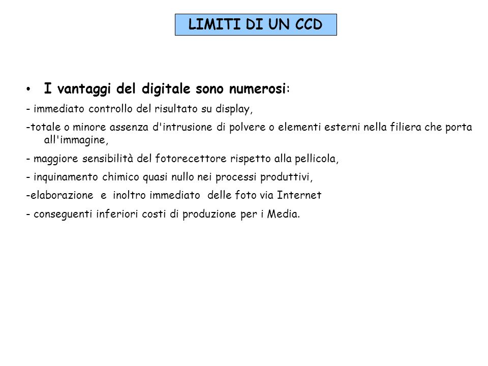I vantaggi del digitale sono numerosi: