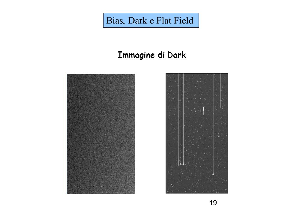 Bias, Dark e Flat Field Immagine di Dark