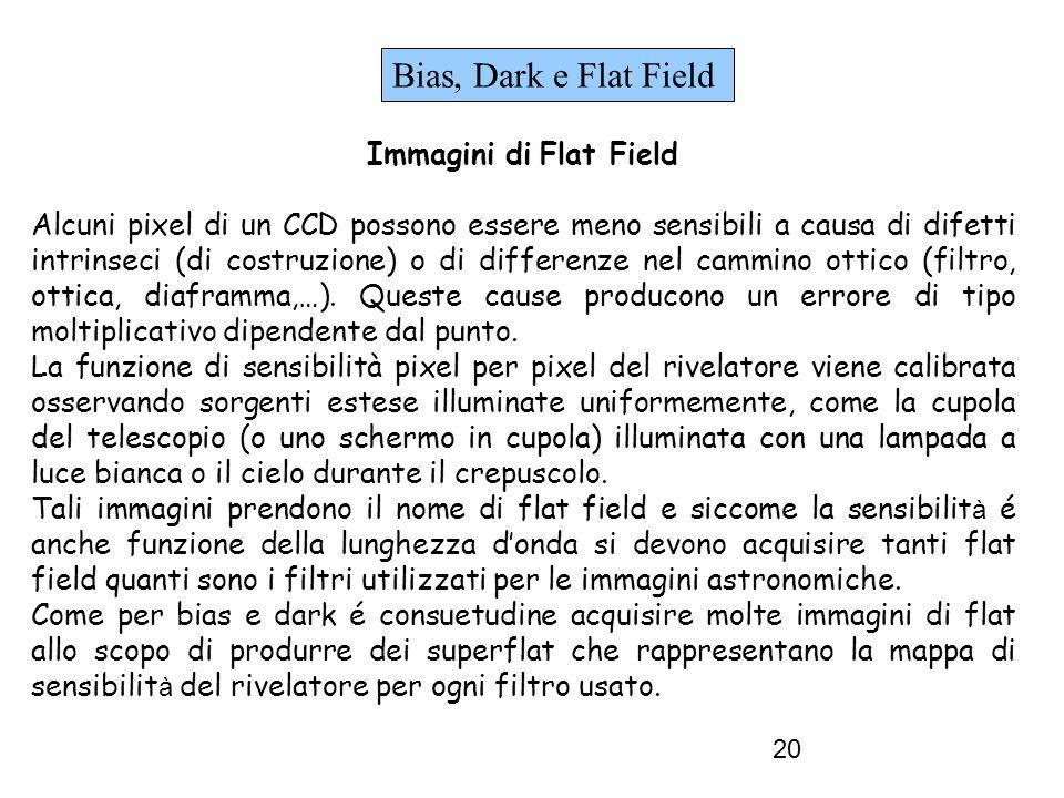 Bias, Dark e Flat Field Immagini di Flat Field