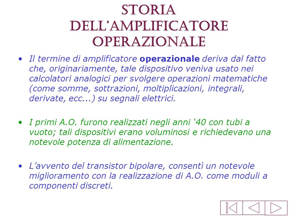 Storia dell'amplificatore operazionale