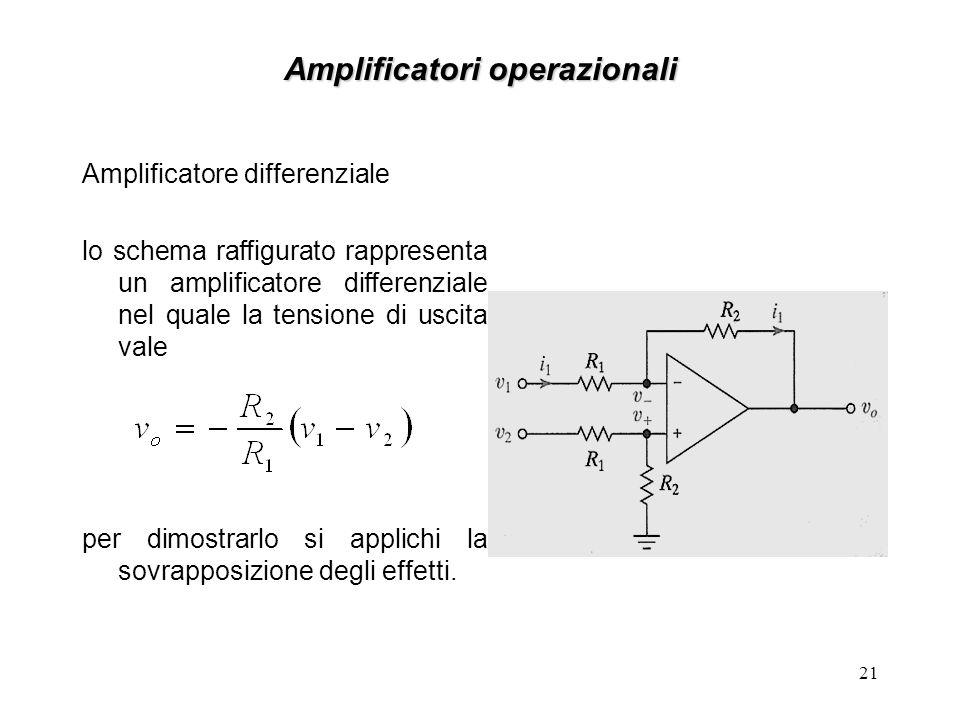 Amplificatori operazionali