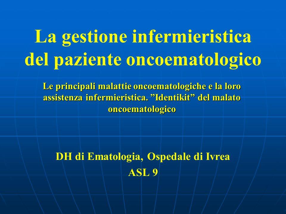 La gestione infermieristica del paziente oncoematologico