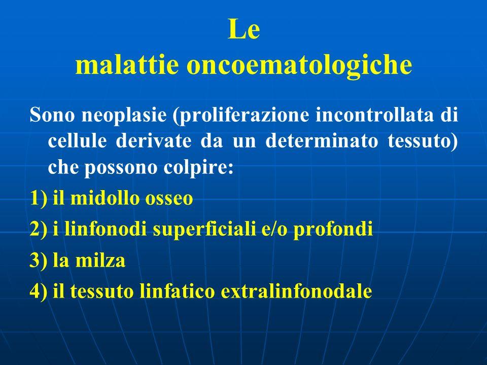 Le malattie oncoematologiche