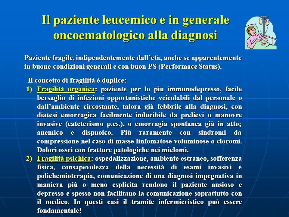 Il paziente leucemico e in generale oncoematologico alla diagnosi