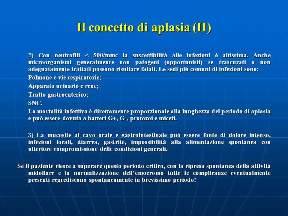 Il concetto di aplasia (II)