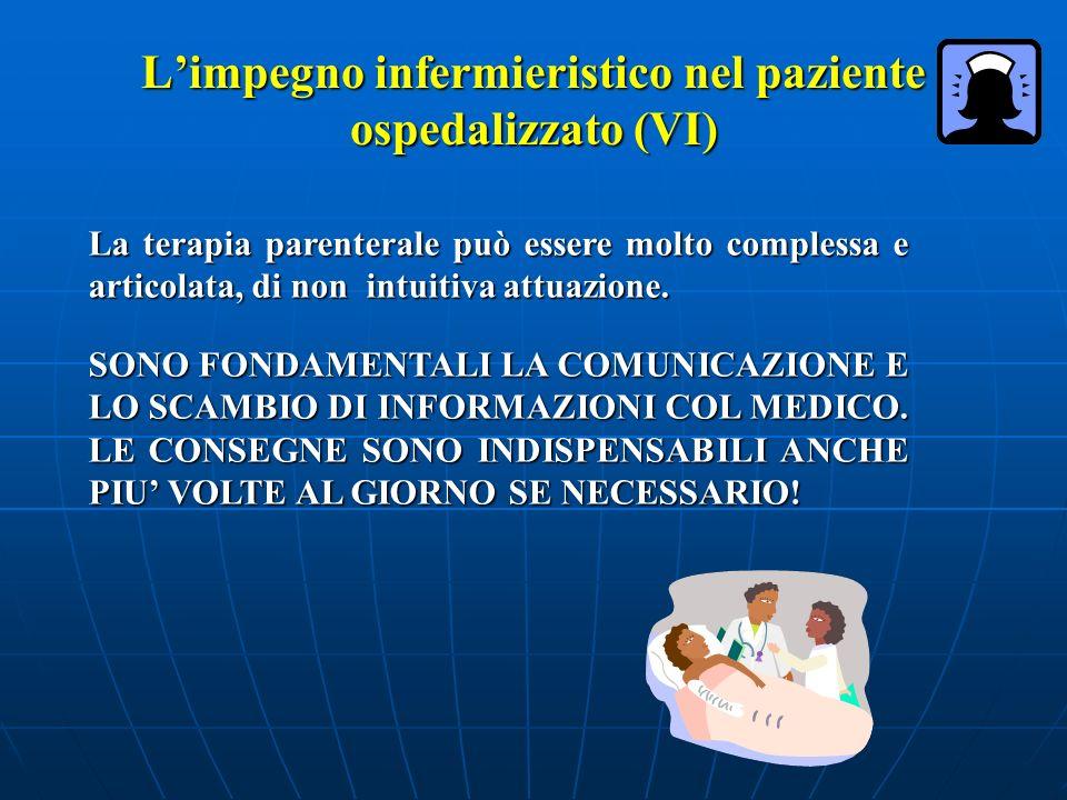 L'impegno infermieristico nel paziente ospedalizzato (VI)