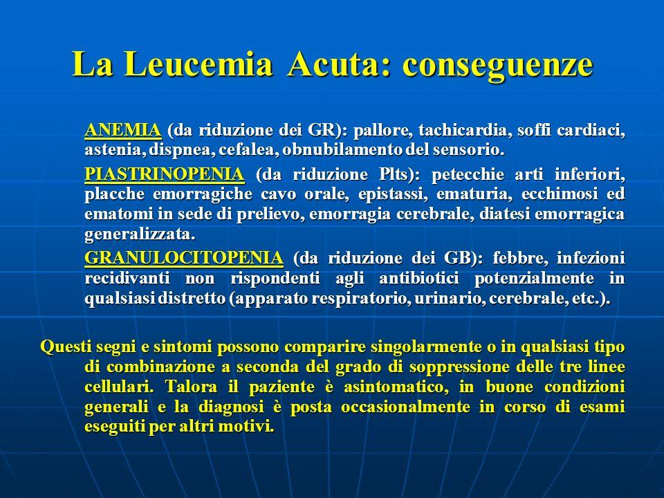 La Leucemia Acuta: conseguenze
