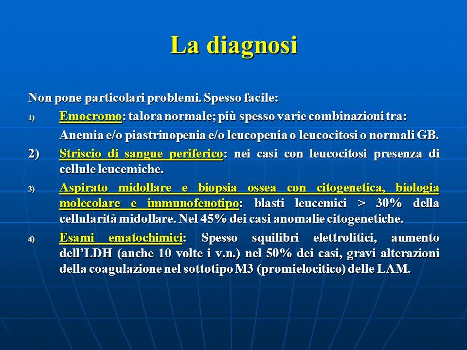La diagnosi Non pone particolari problemi. Spesso facile: