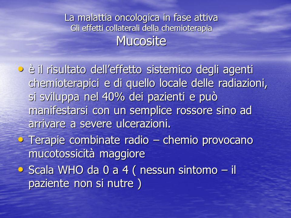 Terapie combinate radio – chemio provocano mucotossicità maggiore