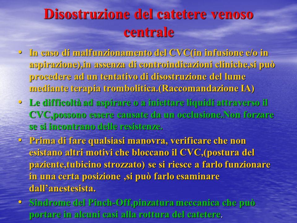 Disostruzione del catetere venoso centrale