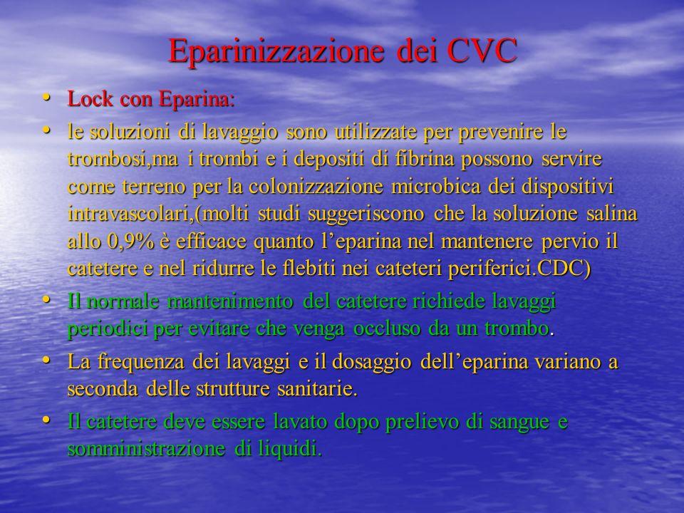 Eparinizzazione dei CVC
