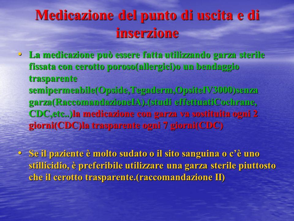 Medicazione del punto di uscita e di inserzione