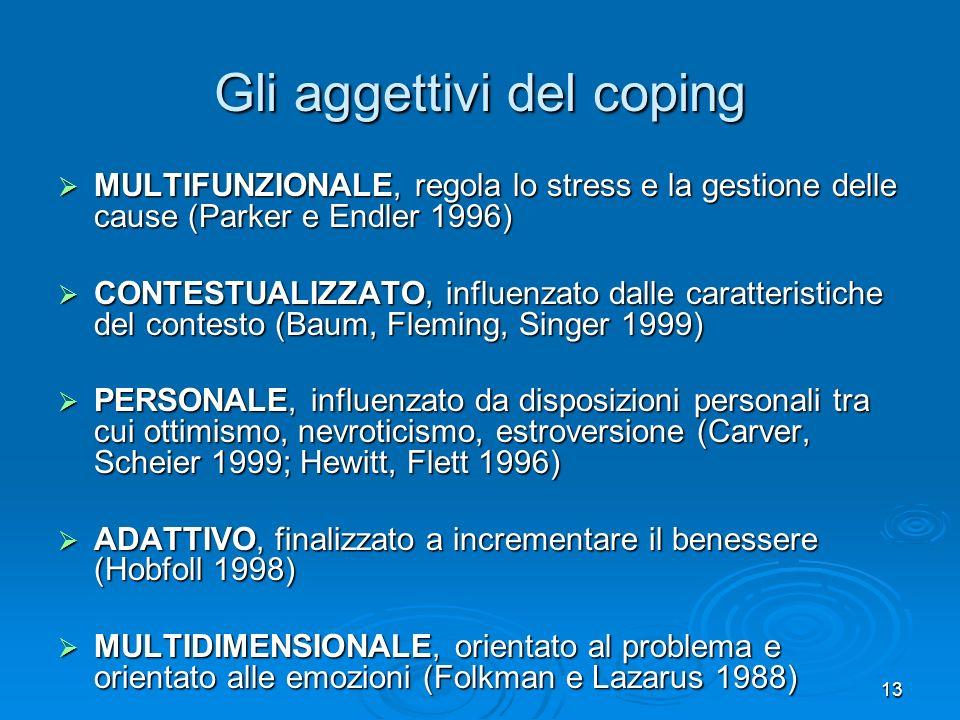 Gli aggettivi del coping