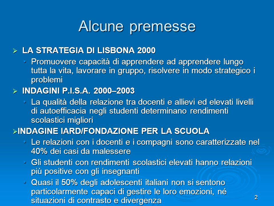 Alcune premesse LA STRATEGIA DI LISBONA 2000