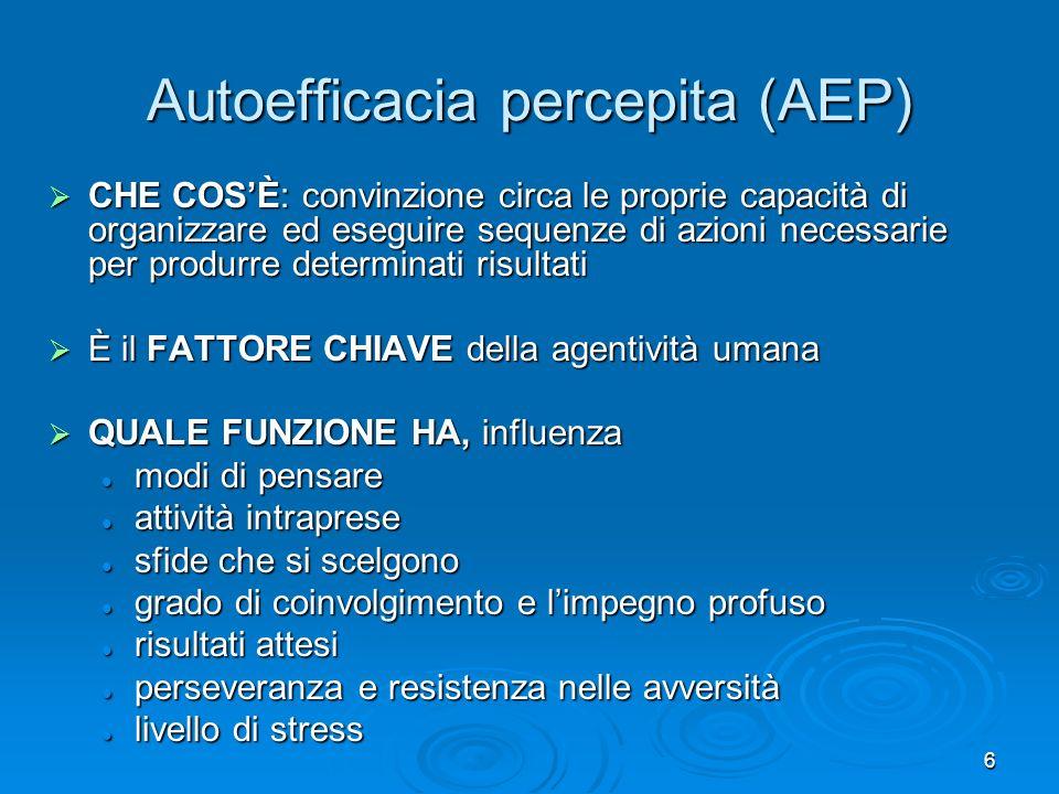 Autoefficacia percepita (AEP)