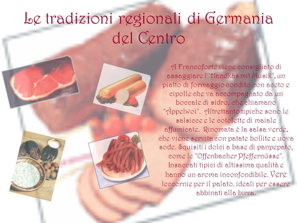 Le tradizioni regionali di Germania del Centro